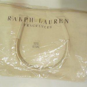 Ralph Lauren Large Tote Bag Canvas White/Beig